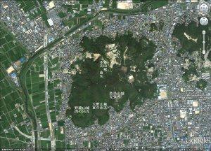 巨大な富山城の縄張り