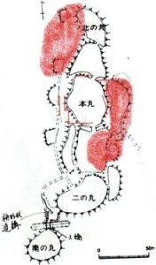 富山城跡残図